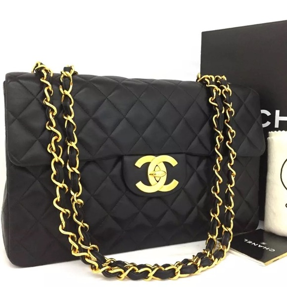 5a734132465c CHANEL Handbags - Chanel Maxi Quilted Matelasse Lambskin Bag